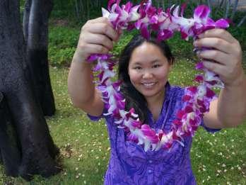 Kauai: Traditioneller Lei-Gruß des Flughafens Lihue