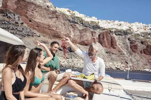 Santorini: Private 5-Hr Day or Sunset Cruise with Catamaran