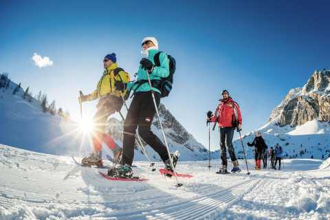 From Bolzano: Snowshoeing in the Dolomites