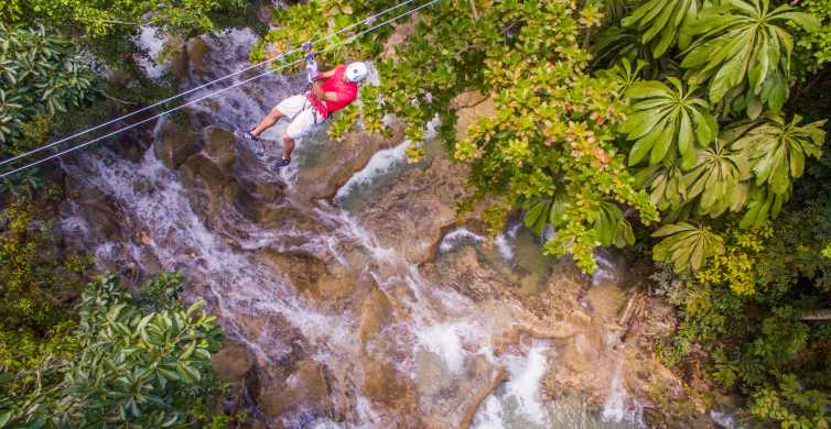Zip-line Over and Climb Dunn's River Falls
