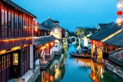 Excursão de um dia pela vila de água de Su Zhou e Zhou Zhuang