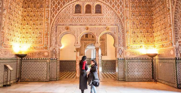 Sevilla: 1-uur durende tour van Alcazar met entree