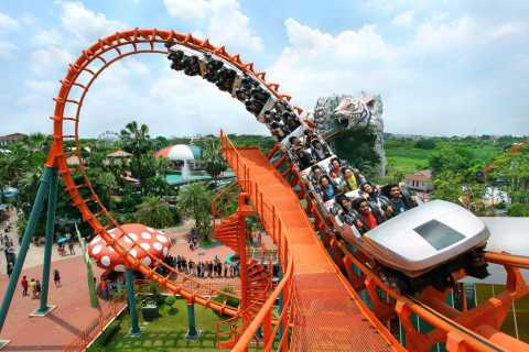Siam Park City: Ticket & Snacks with Optional Transfer