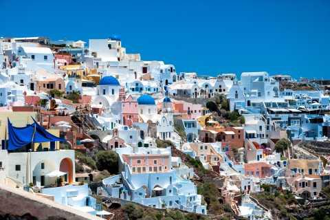 Desde Chania: 1 día en Santorini en autobús y barco