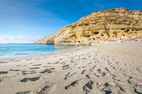 From Rethymno: Agia Galini, Matala, & Spili Small Group Tour