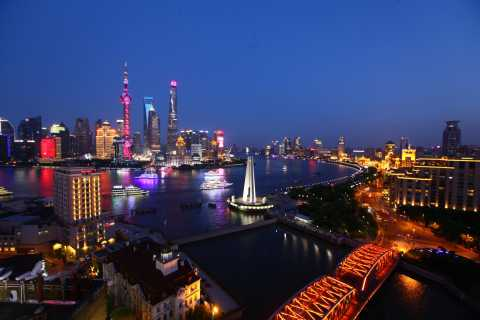 Shanghai: City Lights and Huangpu River Cruise Night Tour