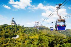 Ilha de Lantau: Barco e Telefério NP360 ou Passe Tai O 1 Dia