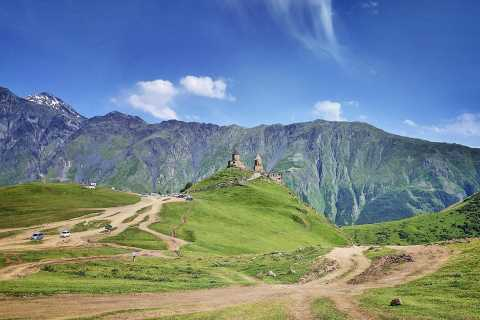 Kazbegi, Gergeti & Ananuri Mountains Private Full-Day Tour