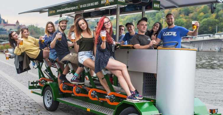 Prague 1.5-Hour Beer Bike Tour