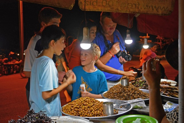 Siem Reap: After Dark Foodie Tour on a Vespa Scooter