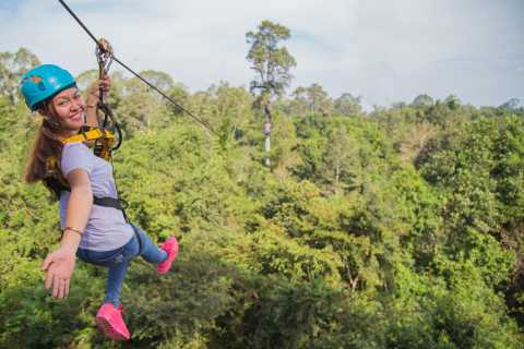 Excursão de dossel Eco-aventura Angkor Zipline