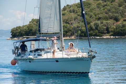 Lefkada: Cruise to Meganisi and Kalamos Islands with Wine