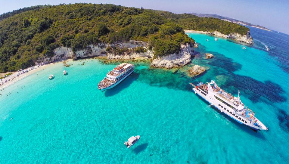 Całodniowy rejs łodzią na wyspy Paksos i do Błękitnych Jaskiń