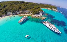 From Corfu Island: Antipaxos & Paxos Blue Caves Boat Cruise