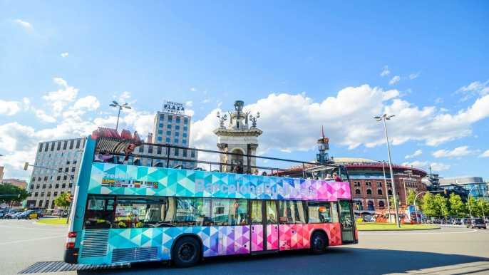 Barcelona Hop-on Hop-off Tour: 1 or 2- Day Ticket