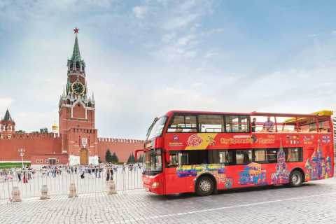 Moskau: Hop-On-Hop-Off-Bus & Bootstour-Optionen