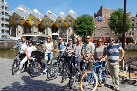 Rotterdam: fietstocht langs hoogtepunten in kleine groep