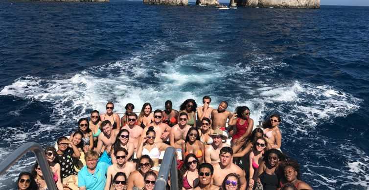 Capri: Boat Tour Priority Tickets & Blue Grotto (Optional)