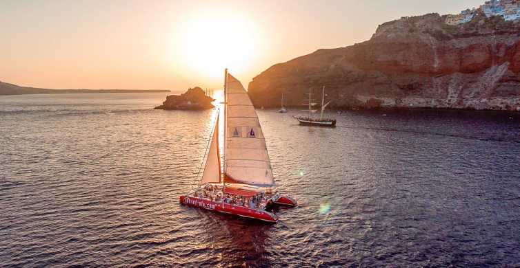 The Santorini Catamaran Red Cruise with Meal & Drinks