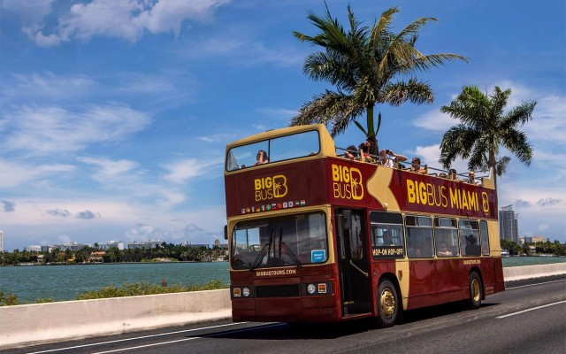 Miami: Big Bus Open Top Bus Hop-On Hop-Off Sightseeing Tour