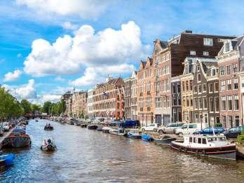 Amsterdam: Grachtenfahrt in einem kleinen offenen Boot