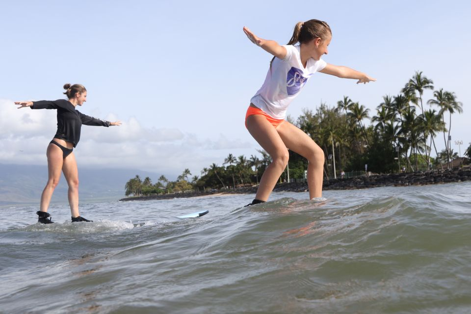 best surfing lessons in Maui