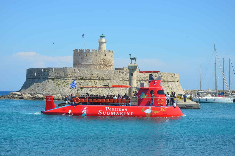 Ab Rhodos: U-Boot-Fahrt mit Blick auf die Unterwasserwelt
