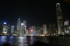 Hong Kong à noite: Cruzeiro no porto, jantar e mercado noturno