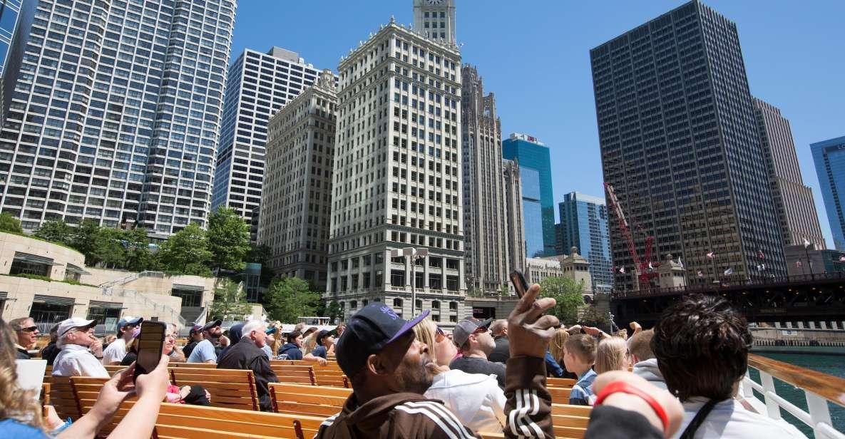 Chicago River: 60- eller 75-minutters arkitekturbådtur