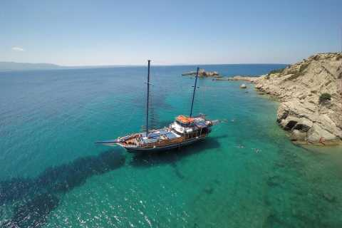 From the Port of Kos: Full Day Boat Cruise to 3 Islands