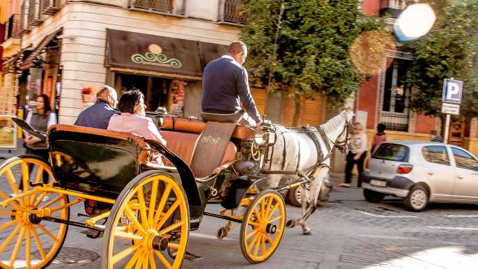 Seville: Authentic & Romantic Horse-Drawn Carriage Ride