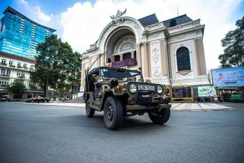 Ho Chi Minh: City Tour by Jeep & Sunset Cruise by Speedboat