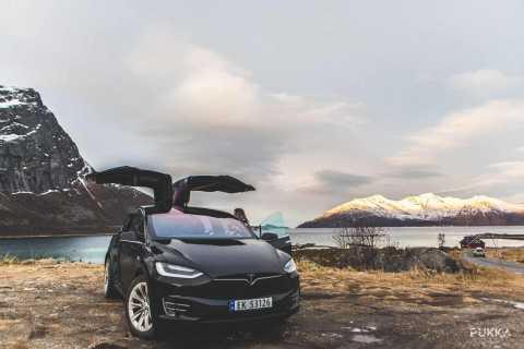 Tromsø: Smuk udflugt til fjorden i en Tesla