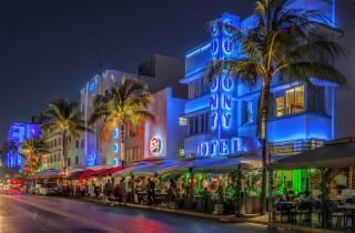 Miami: Big-Bus-Nachttour mit Drink