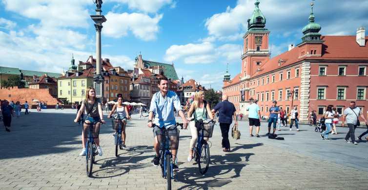 Tour guiado de bicicleta de 3 horas em Varsóvia