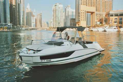 Dubai: Bådtur med svømning, sol og sightseeing