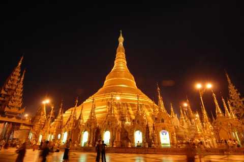 Yangon: Evening Shwedagon Pagoda Tour