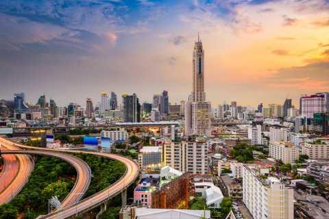 Bangkok, ponte panoramico Baiyoke e cena/pranzo a buffet