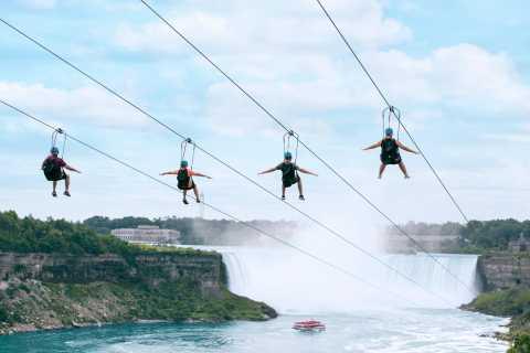 Niagarafälle: Mit der Seilrutsche zu den kanadischen Fällen