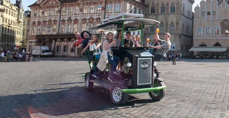 Prague: Beer Bike tour