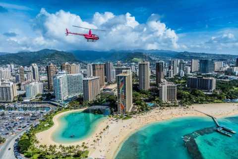 Oahu: Waikiki 20-Minute Doors On / Doors Off Tour in elicottero