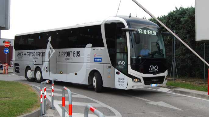 Treviso Airport to Mestre and Venice by Express Bus