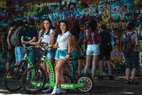 Praag: snelle privétour van 1 uur voor sightseeing met e-scooter