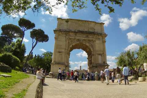 Roma: foro romano sin colas, recorrido por el Palatino y el Coliseo