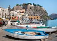 Ab Taormina: Bootsfahrt nach Lipari und Vulcano