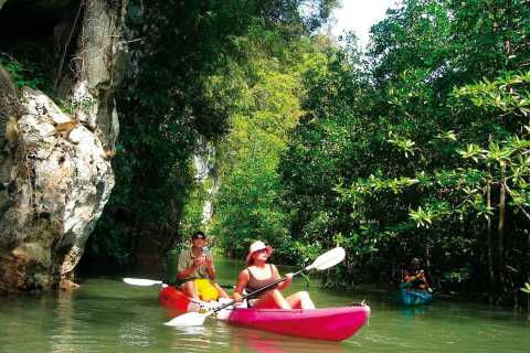 Krabi: Geführte Kajak-Tour bei Ao Thalane