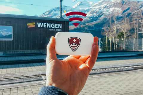 Zurich: Pocket Wi-Fi Unlimited 4G Airport Pick-up