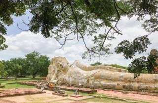 Ab Bangkok: Ayutthaya Tagestour mit Bus & Boot