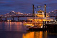 Nova Orleans: cruzeiro noturno de barco com jazz e jantar opcional