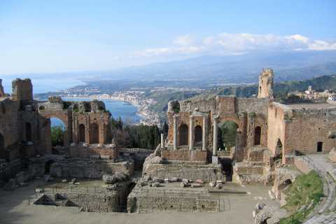 Taormina, Savoca e Castelmola: transfer con guida